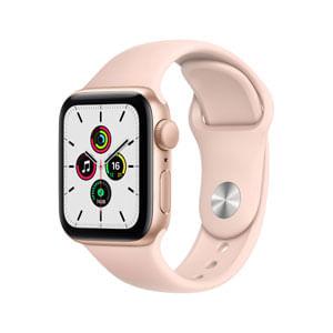 Apple Watch SE GPS Con Caja de Aluminio En Oro de 40 MM y Correa Deportiva Rosa Arena - Talla Unica