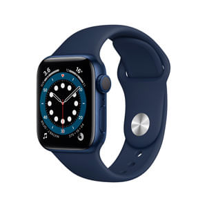 Apple Watch Serie 6 GPS Con Caja de Aluminio En Azul de 40 MM y Correa Deportiva Azul Marino Intenso - Talla Unica