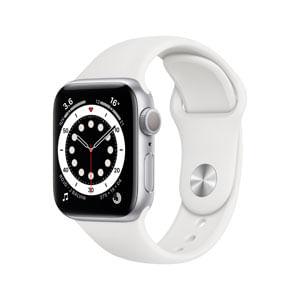 Apple Watch Serie 6 GPS Con Caja de Aluminio En Plata de 40 MM y Correa Deportiva Blanca - Talla Unica