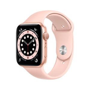 Apple Watch Serie 6 GPS Con Caja de Aluminio En Oro de 44 MM y Correa Deportiva Rosa Arena - Talla Unica