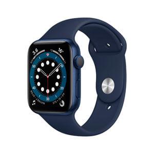 Apple Watch Serie 6 GPS Con Caja de Aluminio En Azul de 44 MM y Correa Deportiva Azul Marino Intenso - Talla Unica